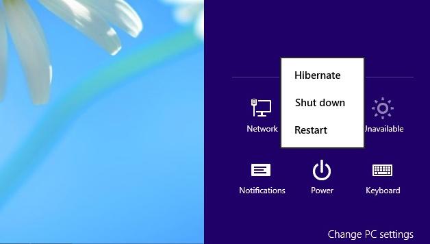 Cara mematikan laptop Windows 8