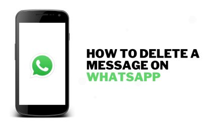 How to delete a message on WhatsApp