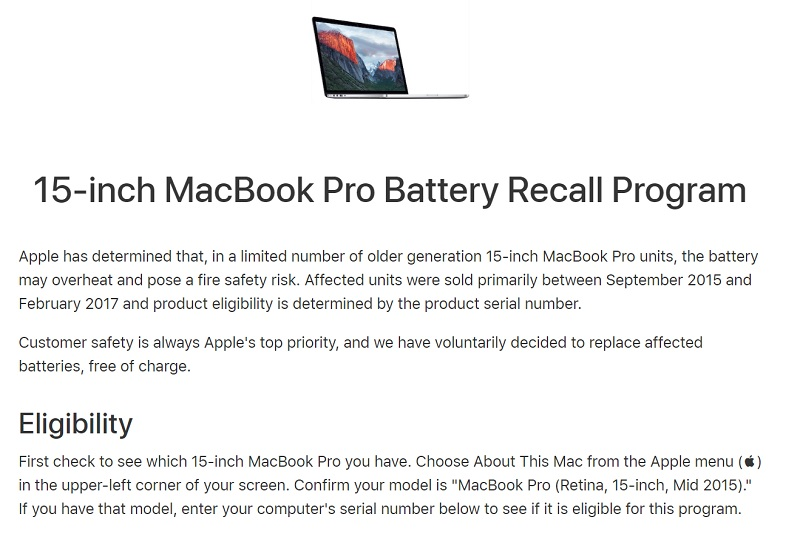 Apple Recalls MacBook Pro Batteries | TechieLobang