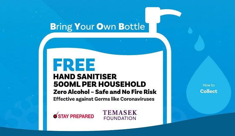 Free 500ml Hand Sanitizer For Every Household In Singapore