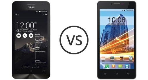Intex Aqua Star vs Asus ZenFone 5 comparison