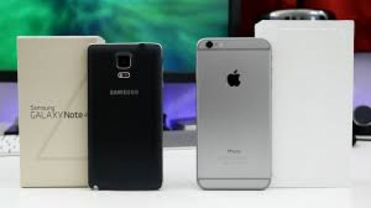 Samsung Galaxy Note 4 vs Apple Iphone 6 comparison