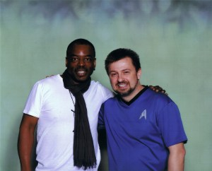 Levar Burton pictured here with Michael Srock