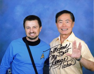 George Takei pictured with Michael Srock