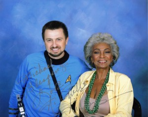 Nichelle Nichols pictured with Michael Srock