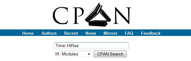 searching in cpan