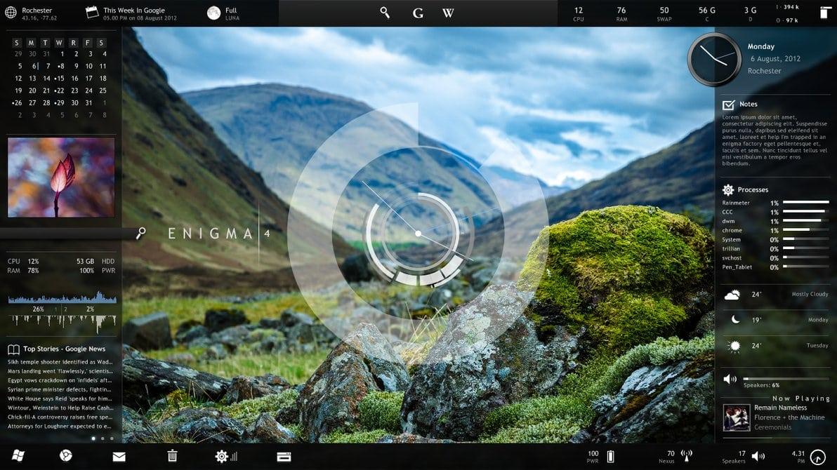 Bginfo desktop background display shows double