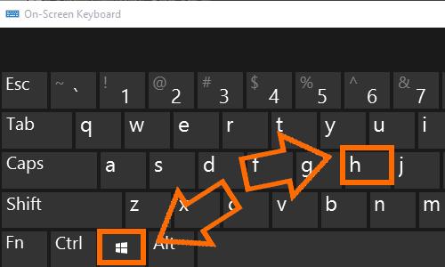 Windows Key + H