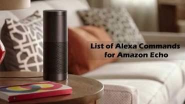Alexa Commands