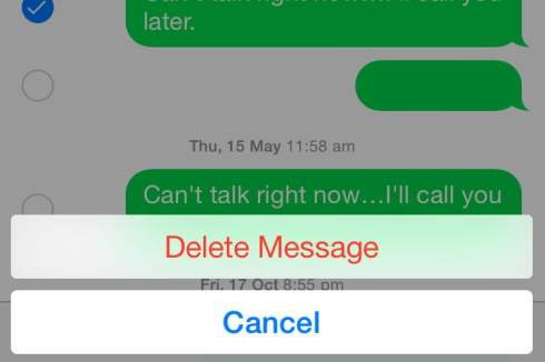 delete messages on iphone