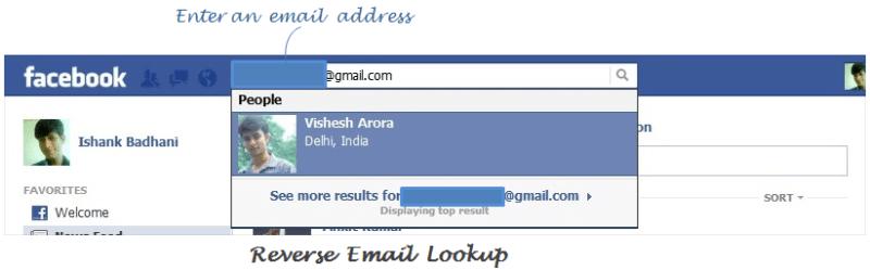 Reverse Email Lookup via facebook
