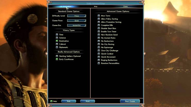 Civ 5 best resources option in advanced set up