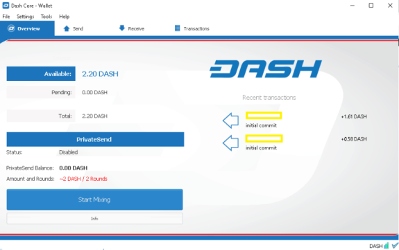 DASH Core Good desktop