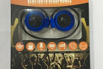 Techie Bluetooth Wireless Headphones (BLUE)