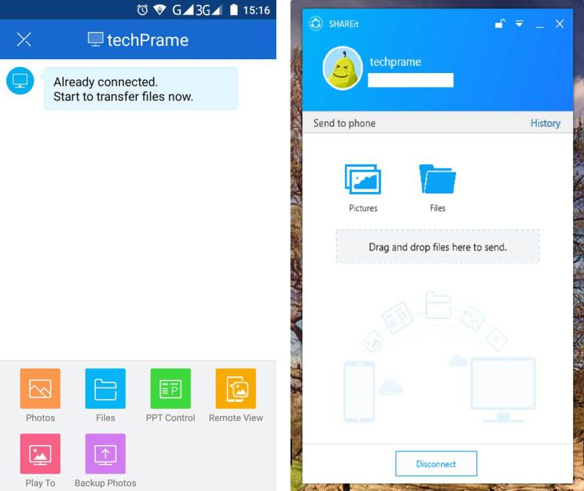 SHAREit APK Download for Android - Final Screen