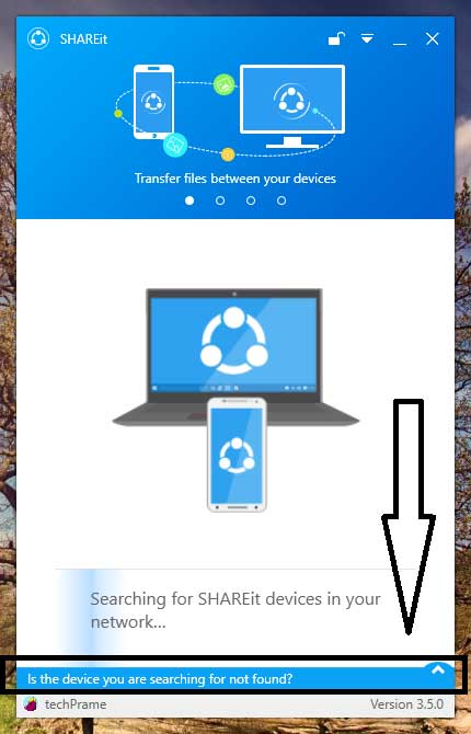 Shareit For PC Starting Screen