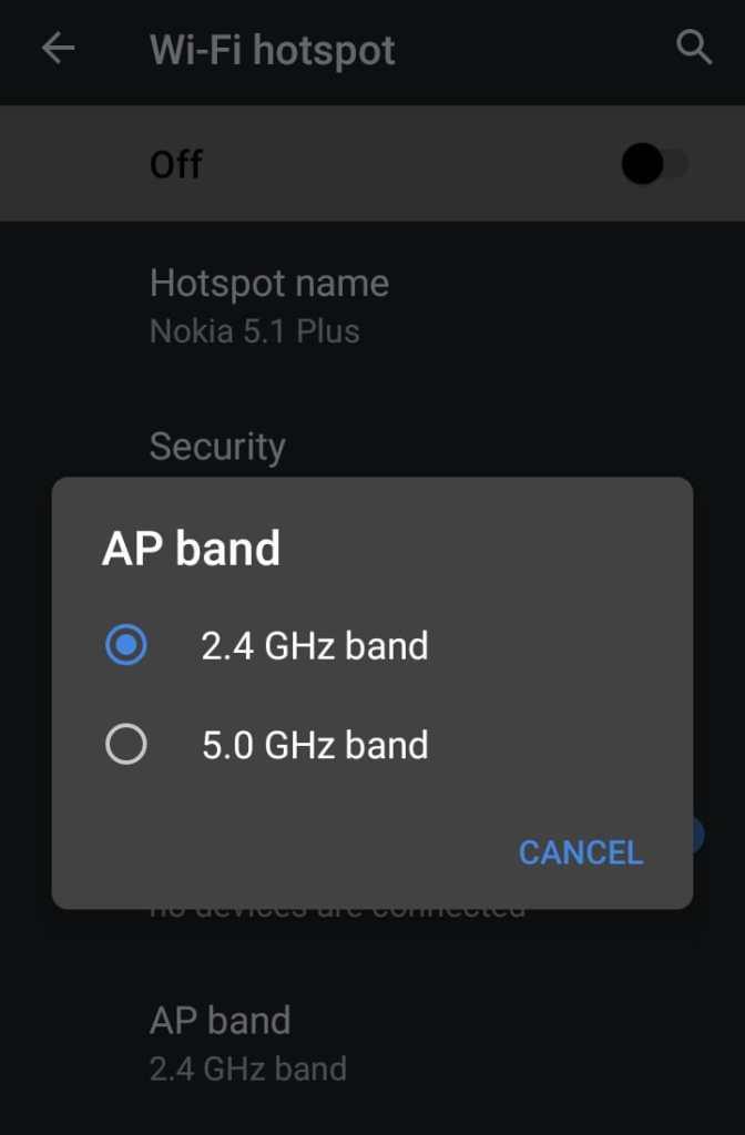 hotspot automatically turns off