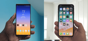 Galaxy Note 9 vs iPhone XS Max