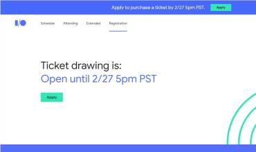 Google I/O 2018 Registration Opened