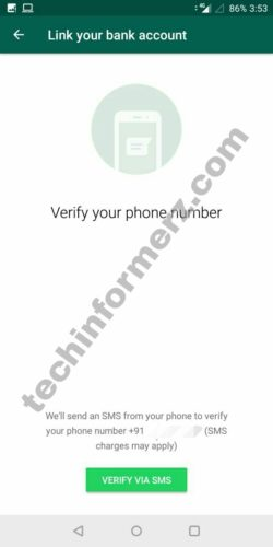 Verify phone number for whatsapp payment