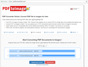 How to Convert PDF to JPG/PNG/BMP/TIFF online for free