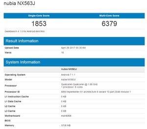 Περιμένουμε το νέο Nubia Z17 με Snapdragon 835 και 4GB RAM;