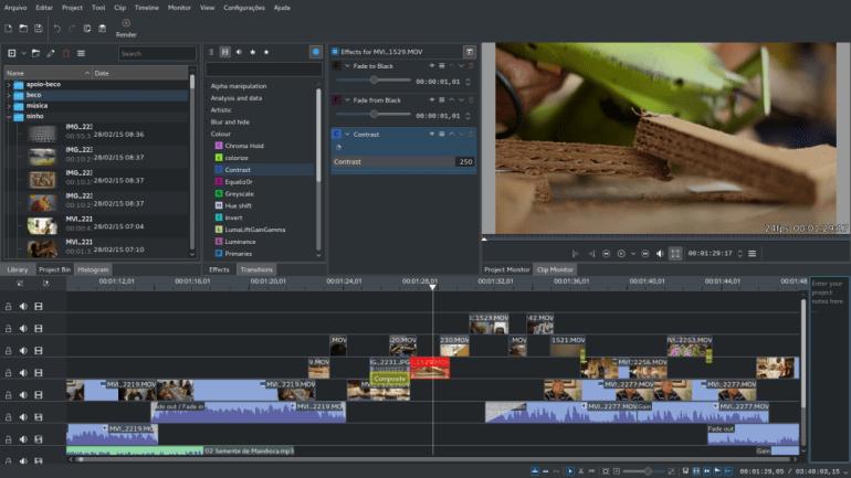 linux video editors