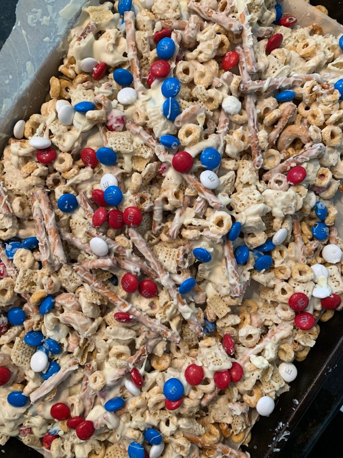 4th of July Chex party mix