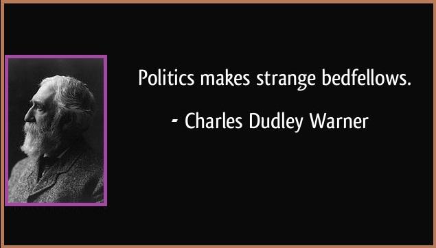 Politics makes strange bedfellows.