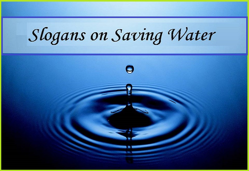 Save Water Slogans in English for Students