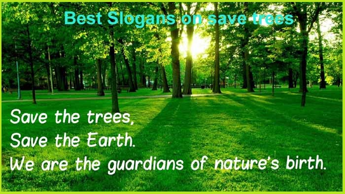 Save trees to breathe fresh air
