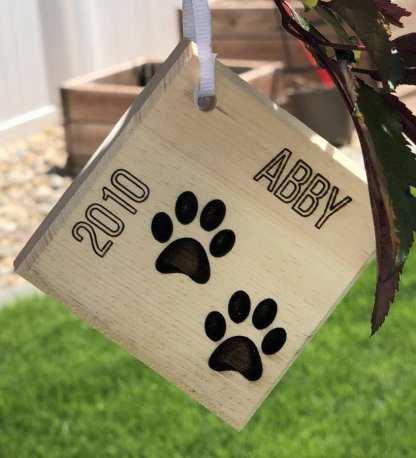 Dog Print Ornament