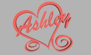 Ashley Valentines Day Heart