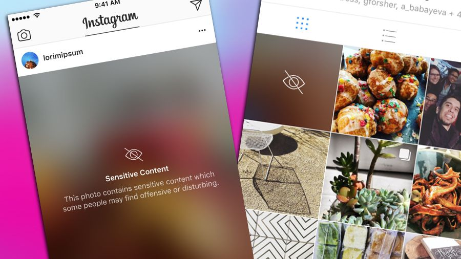 Instagram blur