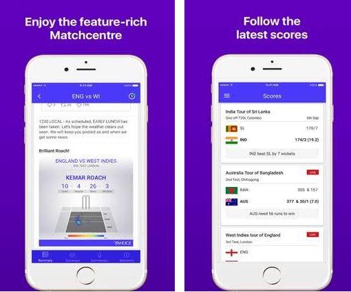 Yahoo Cricket app