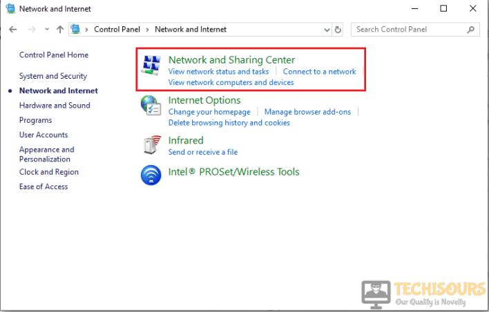 Click on the Network Settings