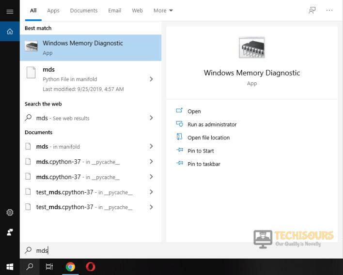 Windows Memory Diagnostics to fix pubg crashing