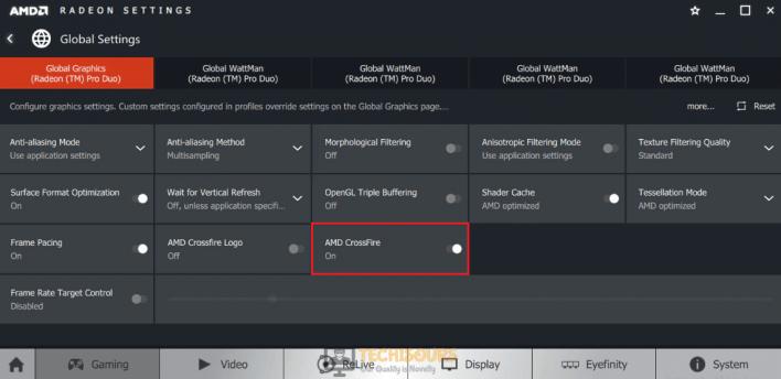 Disable AMD crossfire to sortout fatal directx error ffxiv