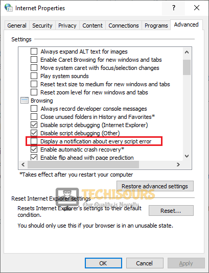 Display a Notification about every Script Error to fix the Error 21 in Steam