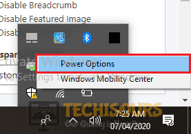 Choose Power Option to remove error code 34