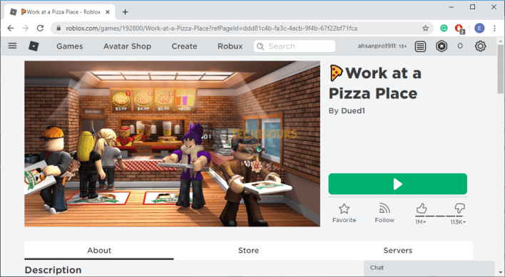 Re-launch the game to get rid of error code 610 roblox