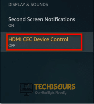 Turn HDMI CEC Off to fix the Firestick keeps restarting issue
