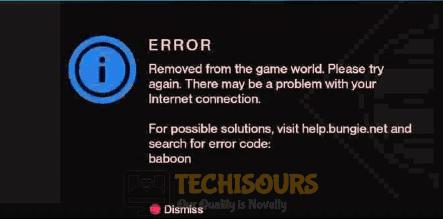 error code baboon display