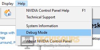 Enter into debug mode