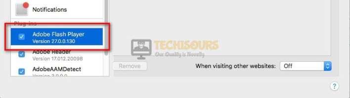 Click Adobe Flash Player to resolve twitch error 5000