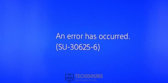 ps4 error su-30625-6 display