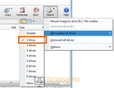 Disable drives to fix Error 0x80070015