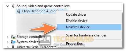 Uninstalling Driver to fix audio renderer error on Youtube