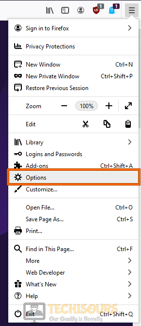 Browser's Options