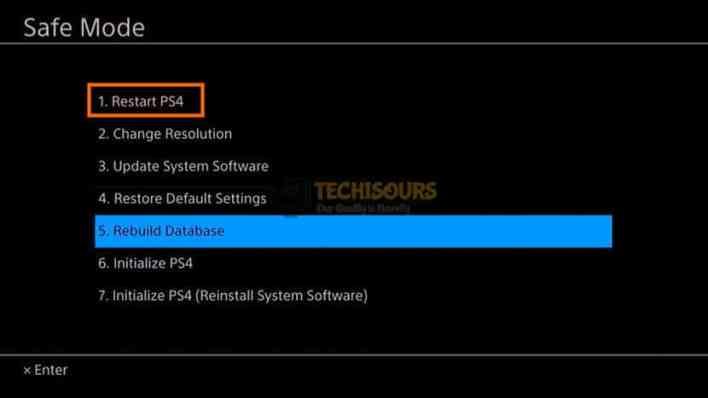 Restart PS4